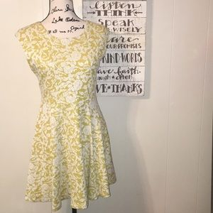ark & co. Yellow Floral A-line Dress, M